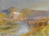 Huy on the Meuse, by Turner