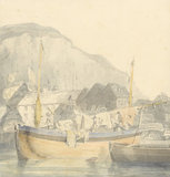 Dover, harbour and shipping, by Turner