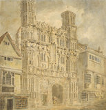 Christchurch Gate, Canterbury, by Turner