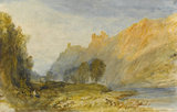 Brüderburgen on the Rhine, by Turner