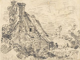 A Cottage at Feering, Essex, by Constable