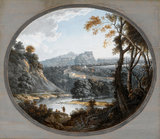 Edinburgh Castle, from Dean Village, by Alexander Nasmyth