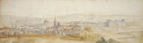 Distant View of a Town with a Chateau, by van der Meulen