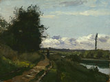 Study for 'The Banks of the Marne', by Pissarro