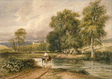 Returning from the Hayfield, by David Cox the elder