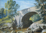 Old Bridge, Glen Moriston, by Goetze