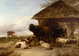 Cattle Reposing, by Thomas Sydney Cooper