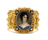 Portrait of Mrs Marlay, set into a gold bracelet