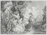 La Lecon d'Amour, after Watteau