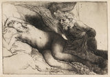 Jupiter and Antiope, by Rembrandt