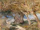 Path through trees, by Samuel Palmer