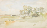 Landscape with farm buildings, by Whistler