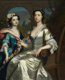 Mrs Elizabeth Birch and her daughter, by Joseph Highmore