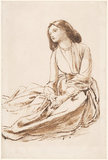 Elizabeth Siddal, seated on the ground