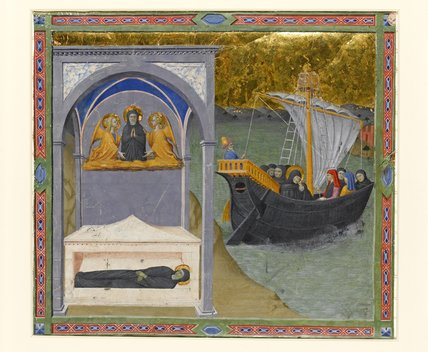 Miniature with scenes from the Life of St Monica