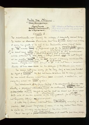 Jude the Obscure: autograph manuscript, by Thomas Hardy