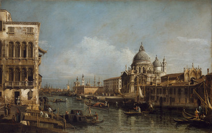 Entrance of the Grand Canal, Venice, by Bernardo Bellotto