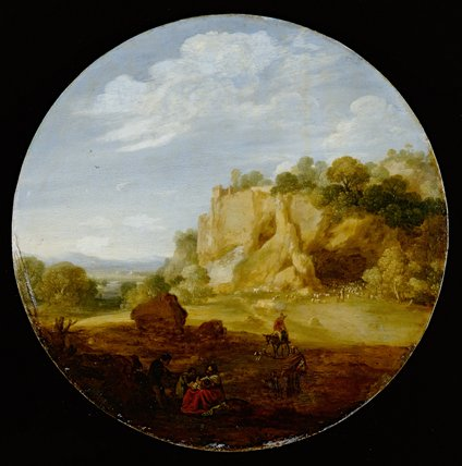 Classical Landscape with Rocks
