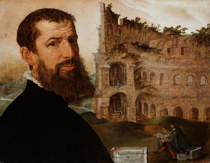 Self-portrait, with the Colosseum