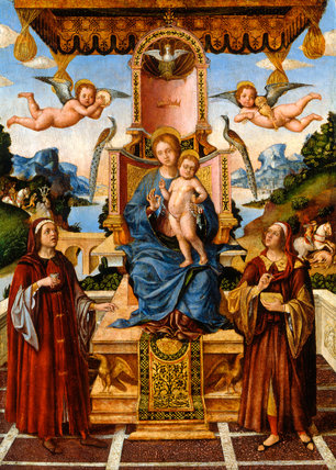 Virgin & Child Enthroned with Saints
