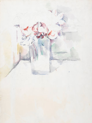 Still-life, flowers in a jar