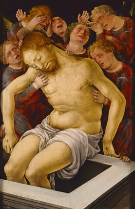 The dead Christ supported by angels, by Liberale da Verona