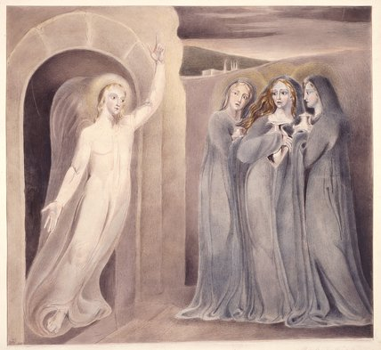 The Three Marys at the Sepulchre, by William Blake