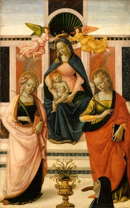 Virgin and Child enthroned, by Davide Ghirlandaio