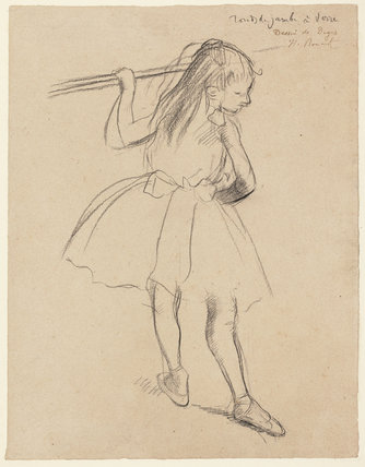 Girl Dancer at the Barre, by Degas