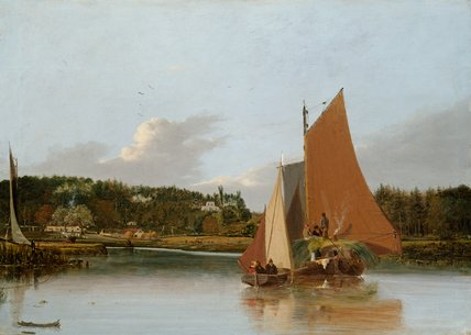 Boats on the Yare near Bramerton, by Joseph Stannard