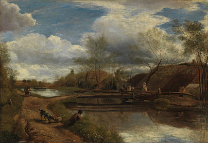 The River Kennet, near Newbury, by John Linnell