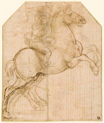 A rider on a rearing horse, by Leonardo da Vinci by ...