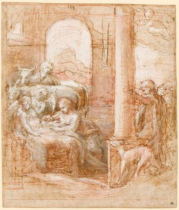 The Nativity with the arrival of the shepherds, by Correggio