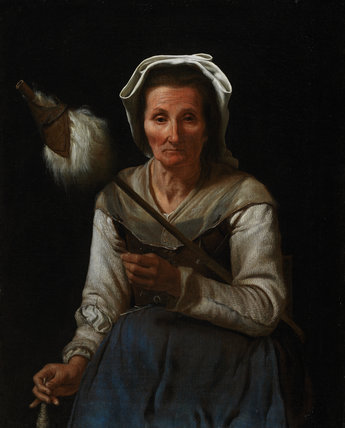An Old Woman Spinning, by Michael Sweerts
