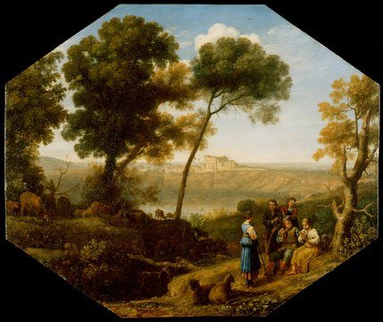 Pastoral landscape with Lake Albano, by Claude Lorrain
