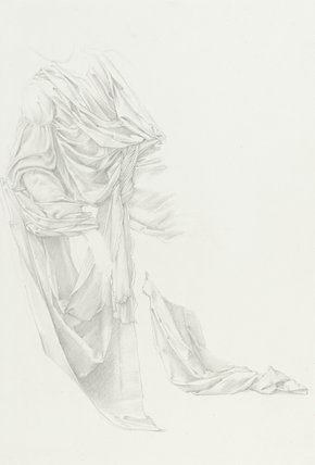 Drapery study for 'Merlin and Vivien'