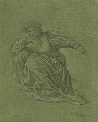 Study for 'The Passing of Venus', by Burne-Jones