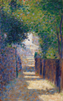 The Rue St. Vincent, Paris, in Spring, by Seurat