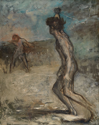 David and Goliath, by Degas