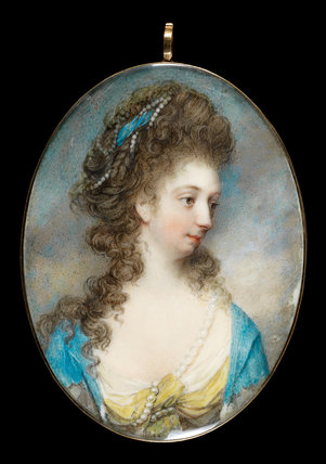 Lady Anne Jane Gower, by Nathaniel Hone