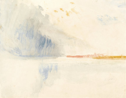 Storm cloud over a river, by Turner
