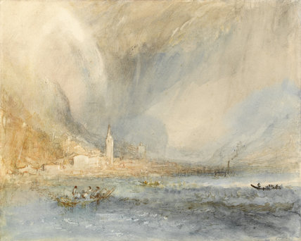 Fluelen from the Lake, by Turner