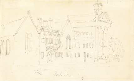 Pembroke College, Cambridge, by Turner