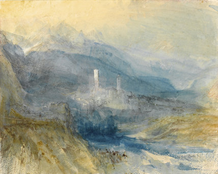 Hospenthal, Fall of St. Gothard, Sunset, by Turner