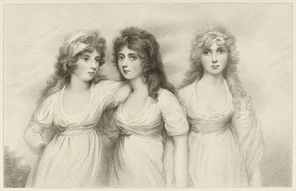 The Rushout Sisters, by E.W. Stodart, after Andrew Plimer