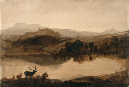 Sketch for 'The Challenge', by Landseer
