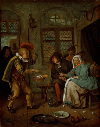 Interior with Figures, by Jan Steen