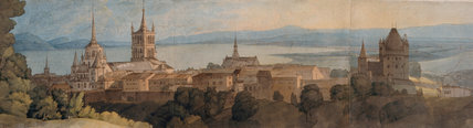 View of Lausanne, by Francis Towne