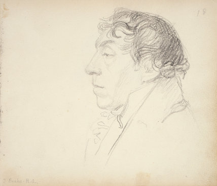 Head of Thomas Banks in Profile to Left, by John Flaxman