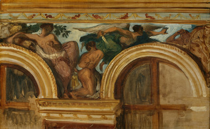 Study for the 'Justice' Frieze, Palais Bourbon, by Delacroix
